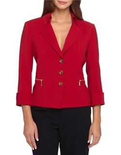 Tahari Arthur S. Levine - Collar Button-Front Jacket