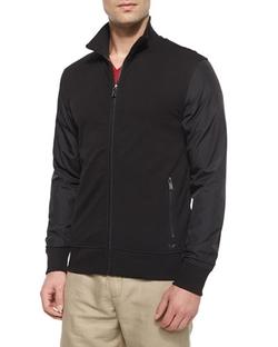 Michael Kors - Nylon-Sleeve Zip Jacket