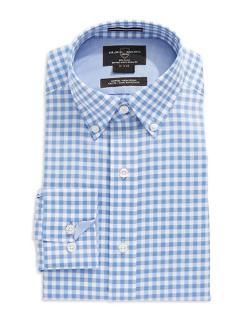 Black Brown  - 1826 Fitted Checkered Dress Shirt