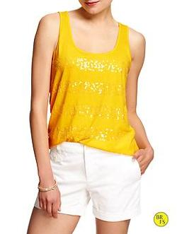 Banana Republic - Factory Sequined Tank