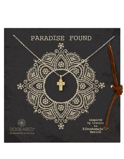 Dogeared - Paradise Found Flower Cross Pendant Necklace