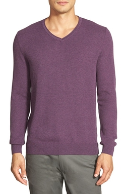 Vince Camuto - Plaited V-Neck Sweater