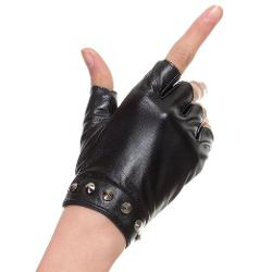 Cyrilus  - Women leather fingerless gloves