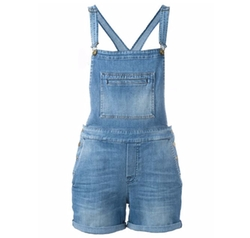 7 For All Mankind - Denim Dungaree Shorts