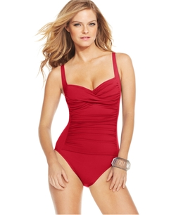 LaBlanca - Ruched Twist-Front One-Piece Swimsuit
