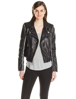 BCBGMAXAZRIA - Faux-Leather Moto Jacket