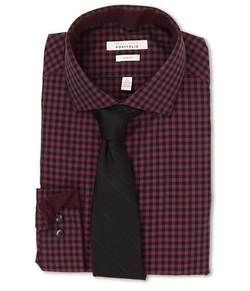 Perry Ellis - Slim Fit Gingham Shirt