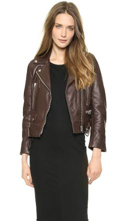Acne Studios  - Mock Leather Moto Jacket