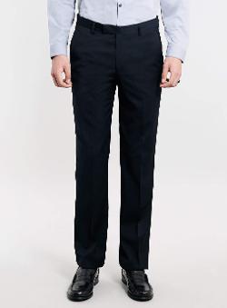Topman - Navy Slim Fit Suit Pants