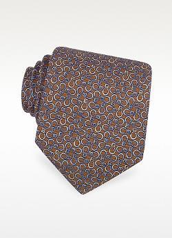 Moreschi - Horse Bits Printed Silk Tie