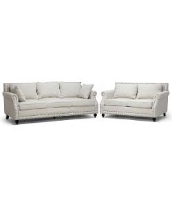 Baxton Studio  - Mckenna Beige Linen Modern Sofa Set