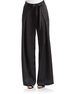 Adrianna Pappel - Crepe Wide-Leg Pants