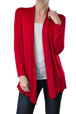 2LUV - Open Front Cardigan Sweater
