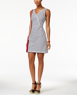 Tommy Hilfiger - Sleeveless Striped Dress