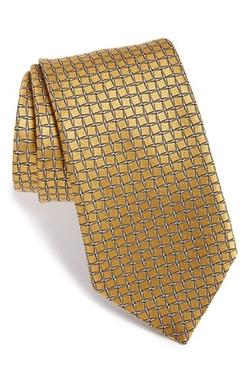 Ermenegildo Zegna  - Grid Silk Tie