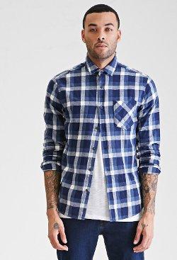 Forever21 - Slim Fit Plaid Shirt