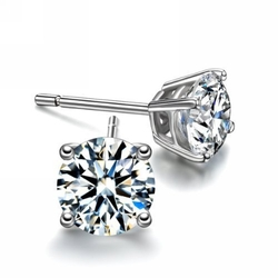 Parikhs - Round Diamond Stud Earrings