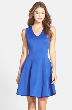 Maia  - Sleeveless Scuba Fit & Flare Dress