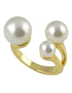 Romwe - Punk Style Pearl Ring