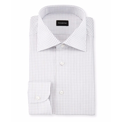 Ermenegildo Zegna - Graph-Check Long-Sleeve Dress Shirt