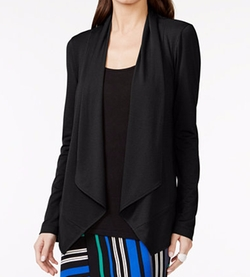 Grace Elements - Draped Hi-Low Open Cardigan