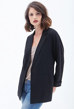 Forever 21 - Contemporary Textured Boyfriend Blazer