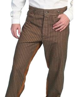 Scully - Wahmaker Cotton Saddle Cut Stripe Pants