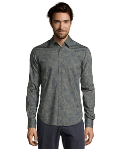 Vince - Alligator Floral Button Front Shirt