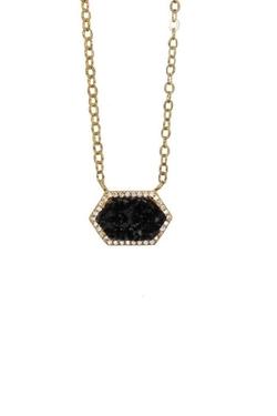 Rachael Ryen Jewelry - Black Druzy Necklace