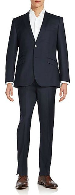 English Laundry  - Regular-Fit Peaked-Lapel Wool Suit