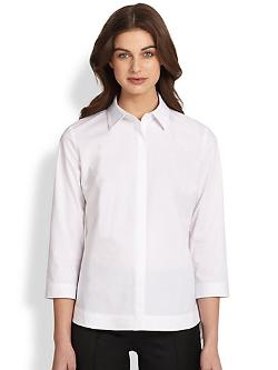 Saks Fifth Avenue Collection - Poplin Cutaway Shirt