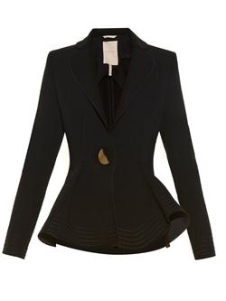 Roksanda - Sienna Fluted-Hem Crepe Jacket Jacket