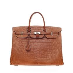 Hermès - Birkin Fauve Barenia Matte Alligator Bag