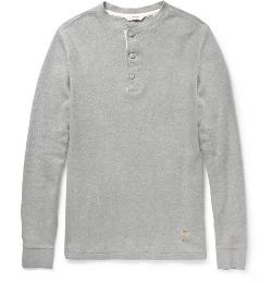 NN.07   - UNION LONG-SLEEVED COTTON-JERSEY HENLEY T-SHIRT