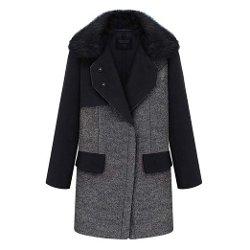 Hee Grand - Winter Model Star Fur Collar Coat