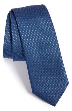 Boss  - Tonal Microdot Silk Tie