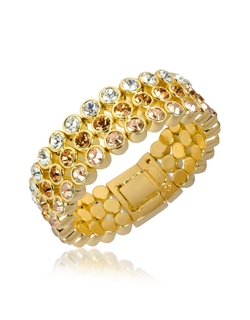 Az Collection - Three-Tone Crystal Bracelet