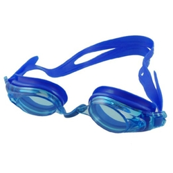 Como - Children Blue Plastic Frame Stretchy Elastic Strap Swimming Goggles