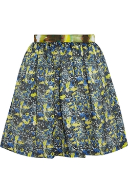MSGM - Printed Mesh Mini Skirt