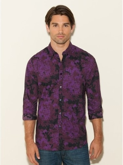 Guess  - Long-Sleeve Floral-Printed Shirt