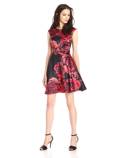 Donna Morgan - Dupioni Fit & Flare Dress