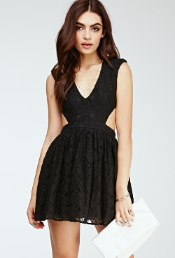 Forever 21 - Floral Lace Cutout Dress