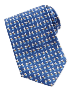 Salvatore Ferragamo -  Bunny and Cat-Print Tie