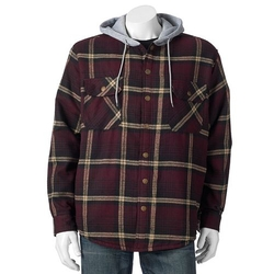 Victory - Plaid Flannel Hooded Jacket