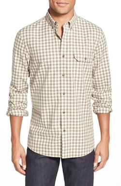 Nordstrom  - Trim Fit Long Sleeve Gingham Flannel Sport Shirt