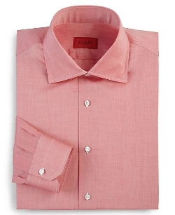 Isaia - Solid Riva Cotton Dress Shirt