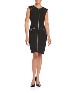 Calvin Klein  - Exposed Zip Sheath Dress