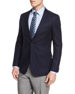 Boss Hugo Boss - Roan Textured Modern-Fit Blazer