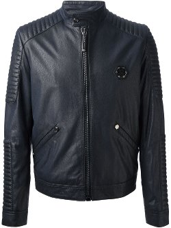 Philipp Plein  - Ribbed Biker Jacket