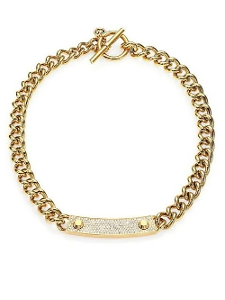 Michael Kors  - Reversible Chain Link Toggle Necklace